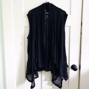Lavanya Boho Crochet Sleeveless Cardigan Size 3X